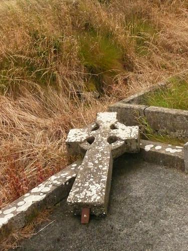 Fallen stone cross