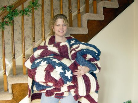 American Flag Afghans