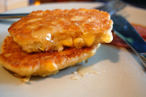 Corn Fritters with Honey