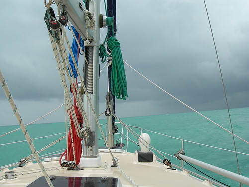 Sailing to weather in Belize