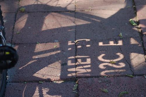 Shadows on Sidewalk by you.
