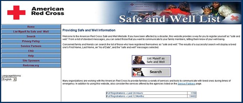 Near Ike? Register yourself as Safe and Well