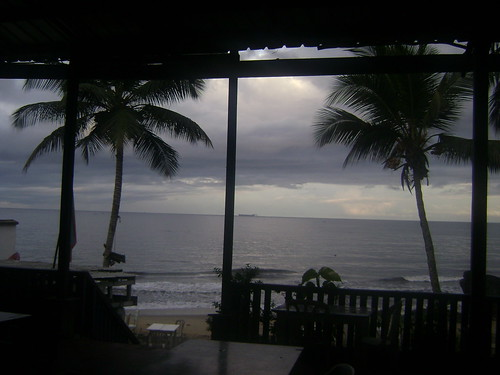 View from my room in Kribi.