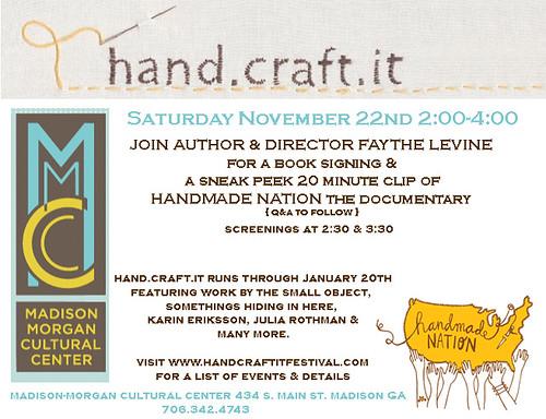 Handmade Nation in Atlanta This Weekend!