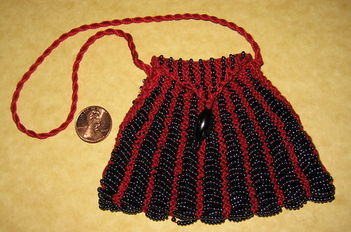 Knit beaded purse