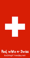 Swiss National Day - Red, white or Swiss