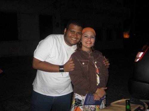 Ana Maria Fuster y yo, durante la ultima feria del libro