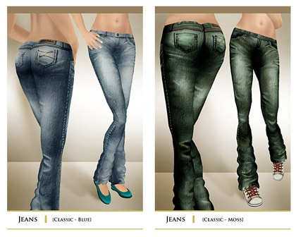 layout jeans lightblue+green