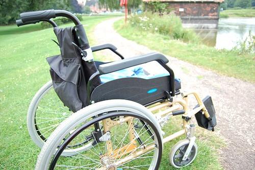 my wheelchair at stowe pool