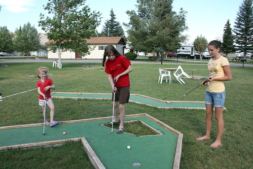 Mini golf in Arco Idaho