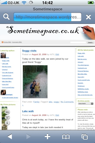 iPhone page of my blog