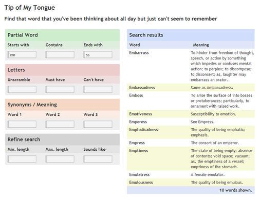 [webapp] 一時想不起來這個單字怎麼拼 - Tip of My Tongue ~ Browny Walking
