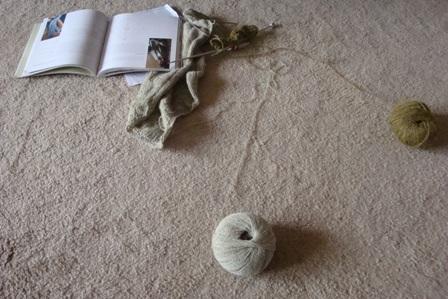 Knitting on a lazy day