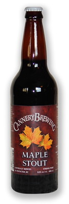 New maple stout from Pentictons Cannery Brewery.