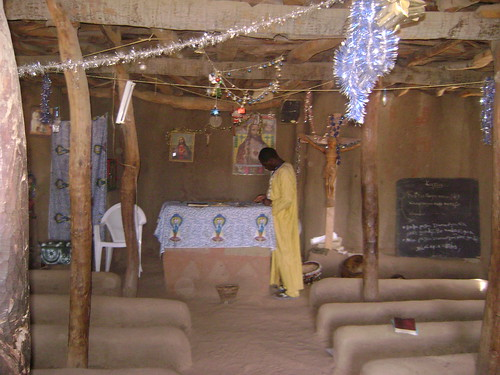 Evangelical church in Dogon Country