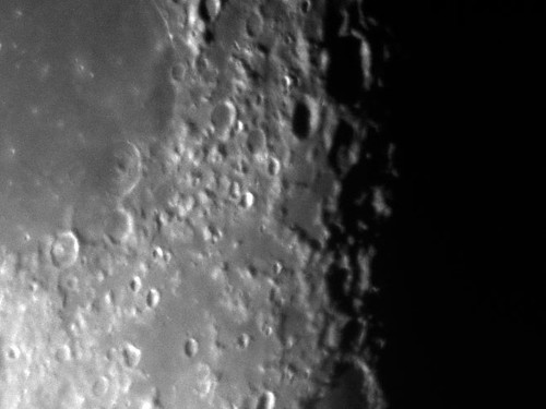 Lunar craters (0.001 second exposure)