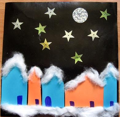 night scene houses