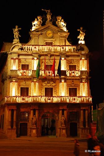 Fachada del Ayuntamiento de Pamplona