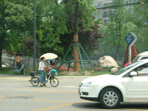 E-Bike with Parasol