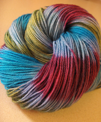 Striped yarn ball