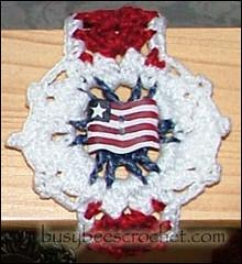 Red Band American Flag Bracelet