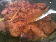Cooking beef curry