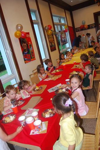 Kids Enjoying Cake and Ice Cream