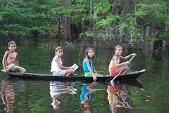 Children on the Amazon River