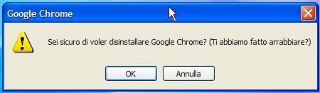 Google Chrome: Ti abbiamo fatto arrabbiare?