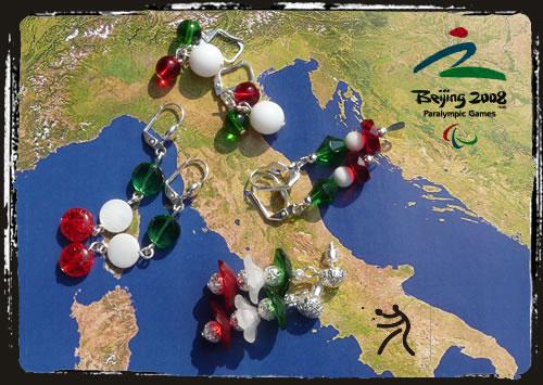 Orecchini tricolore - Italian flag earrings MEHIPOG
