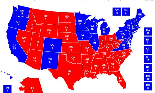 Map of Red & Blue States