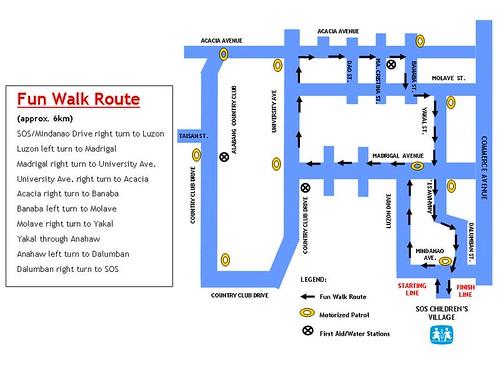 Fun Walk map