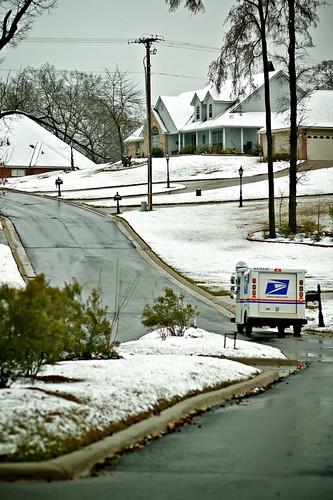 Snowy Road Hill