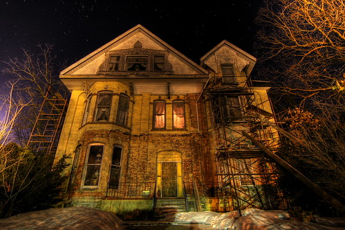 Haunted House Behind the Middle School