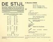 Theo van Doesburg. Ejemplo de revista De Stijl, Letterklankbeelden, proyecto gráfico.