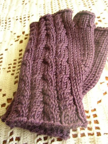 almost easy mitts purple