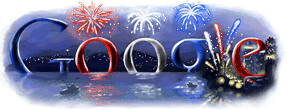 July 4th Logo at Google