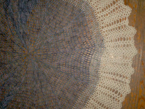 Classic Crocheted Shawl - border