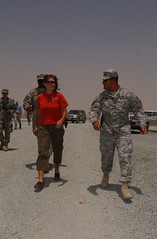 Alaska Gov Sara Palin Visits Troops in Kuwait