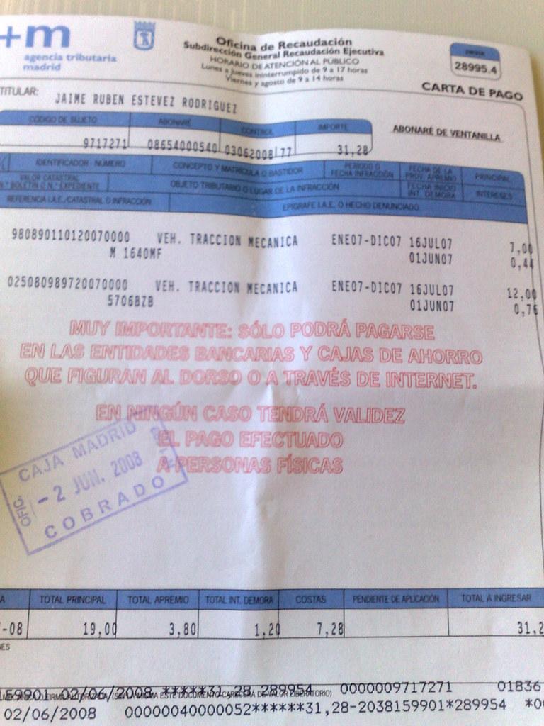 carta de pago impuesto circulación jaime estevez