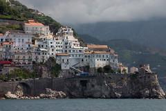 Amalfi Coast between Positano and Amalfi
