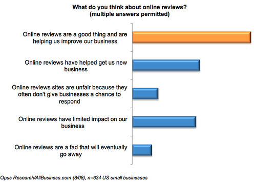 SMB attitudes toward online reviews