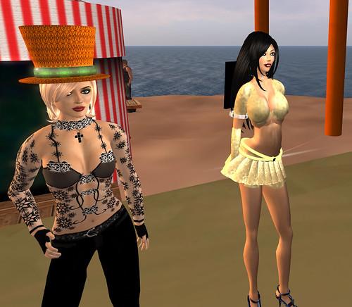 Botgirl and my transformed avatar