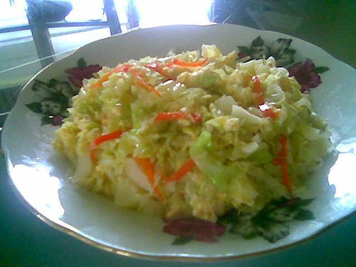 STP's fried cabbage with eggs