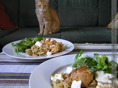 Hühner-Gyros Reispfanne