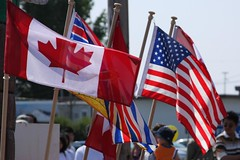 American Flag on Canada Day 2008