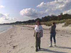 mor på sin strand