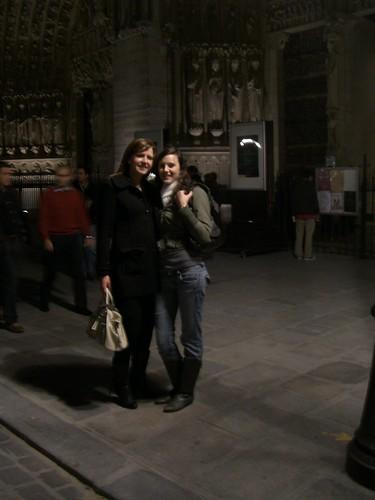 Lauren and I infront of Notre Dame