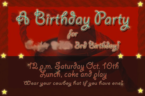blg birthday invite
