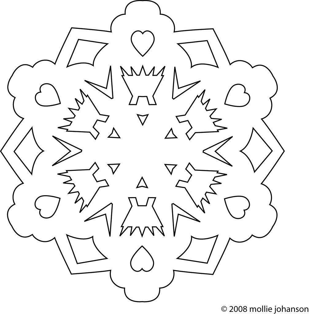 FREE PRINTABLE SNOWFLAKE PATTERNS